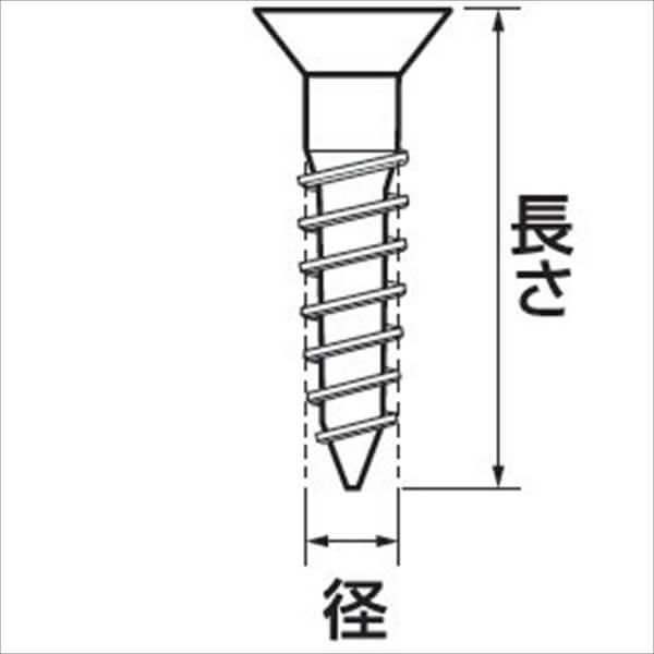 福井金属工芸 セール特価 海外 No.6701-1 鉄木ネジ皿頭 1箱 ニッケル 5000本入 2.1×10