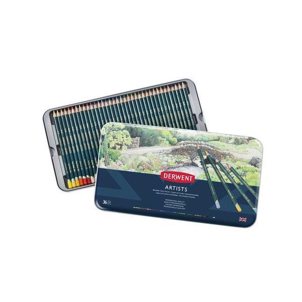 <title>ダーウェント アーチスト メタルケース 36色セット 送料無料カード決済可能 32096 油性色鉛筆</title>