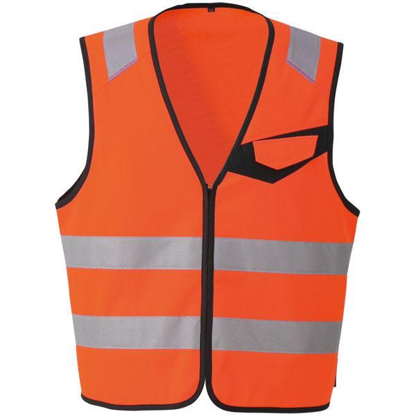 コーコス 高視認性安全ベスト(ファスナー) オレンジ 3L ※取寄品 CS-2419