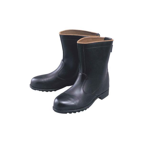 ジーベック 安全靴 JIS規格シリーズ 半長靴 24.5cm ブラック 85028