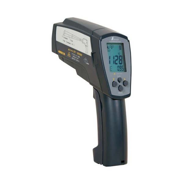 放射温度計H 工業用 高温測定用 デュアルレーザーポイント機能付 放射率可変タイプ 取寄品 シンワ 73100
