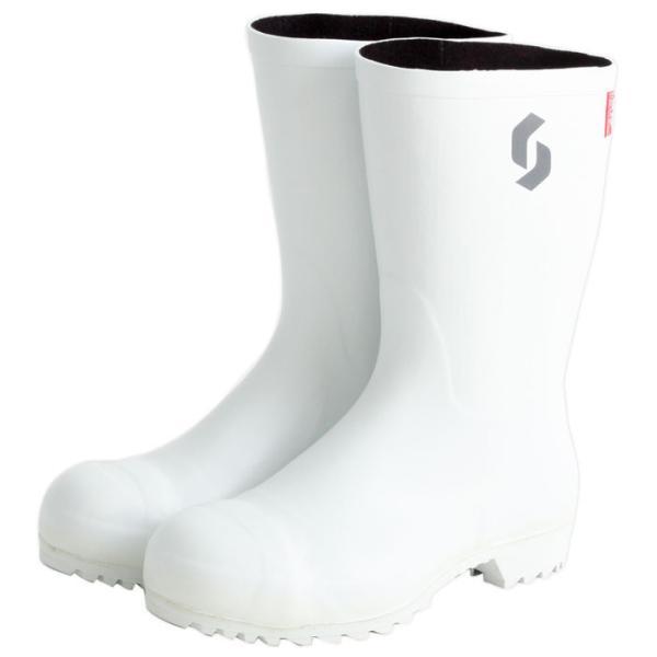 安全耐油長靴 白 28.0cm 取寄品 シバタ工業 AO021