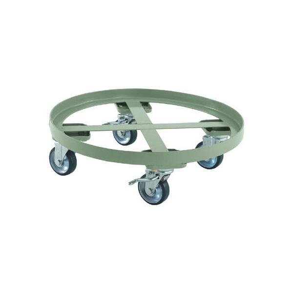 トラスコ 円形台車(全周ガイドタイプ・ストッパー付)300kg/床面高さ165mm【代引不可・メーカー直送品】 RC-300S