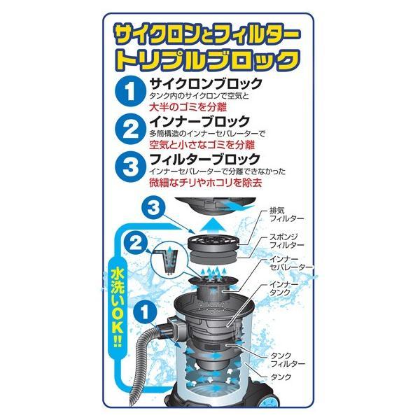 業務用掃除機 爆吸クリーナー 35L サイクロン式バキュームクリーナー 日動 NVC-S35L|arde|04