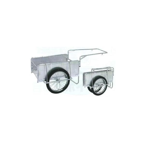昭和ブリッジ 折りたたみ式アルミリヤカー(荷台幅800×長さ1200・側板平板・ノーパンクタイヤ) NS8-A2S
