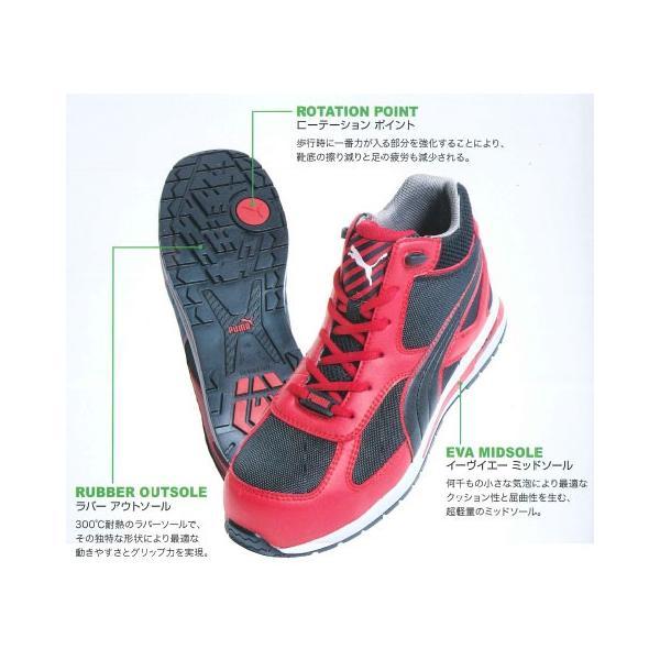 安全靴 フルツイスト レッド ミッド ブラック×レッド 27.0cm 取寄品 PUMA(プーマ) 63.201.0|arde|02
