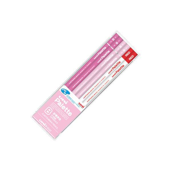 三菱鉛筆 学用鉛筆 ユニS1051 パステルピンク+赤 B 【12本セット(1ダース)】 取寄品 US1051
