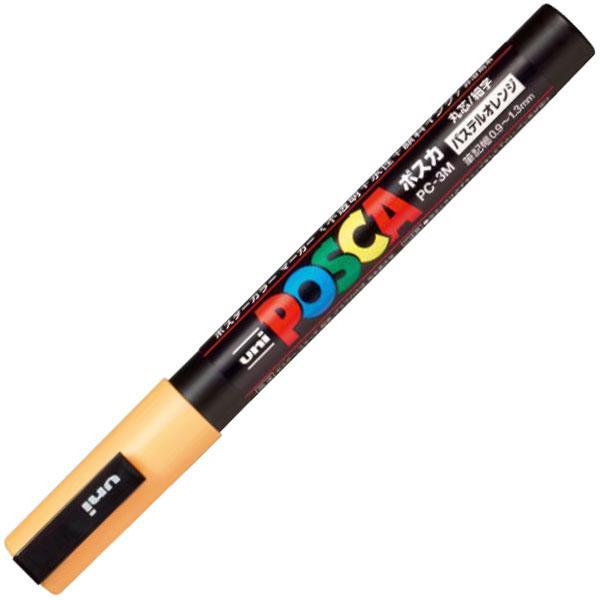 サインペン ポスカ 0.9〜1.3mm PC-3M パステルオレンジ 取寄品 三菱鉛筆 PC3MP.4