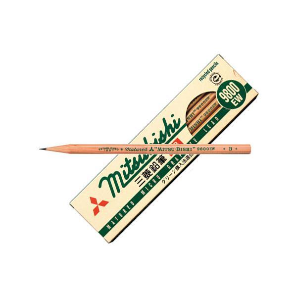 リサイクル鉛筆 9800EW B 【12本セット(1ダース)】 取寄品 三菱鉛筆 K9800EWB|arde