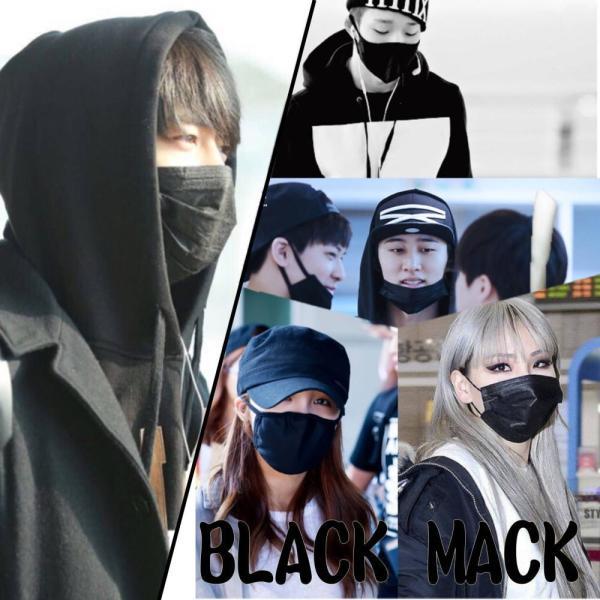 定形外 送料無料 黒マスク 50枚 箱入り ブラックマスク 使い捨て ファッションマスク 素っぴん 花粉 ウイルス pm2.5 対策 お洒落マスク|area-japan|04
