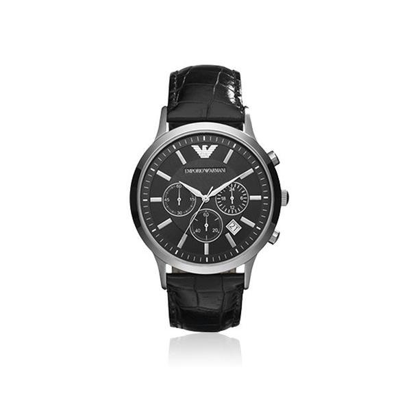 5286888dd2 EMPORIO ARMANI エンポリオ アルマーニ 腕時計 Classic Chronograph クラシック クロノグラフ メンズ AR2447  ブラック|area- ...