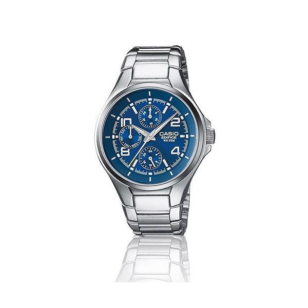 426ecb4244 カシオ CASIO 腕時計 EDIFICE エディフィス EF-316D-2 シルバー ブルー メンズ 海外モデル 箱 ...