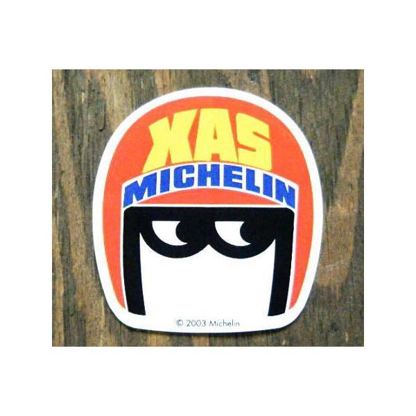 ステッカー シール デカール 車 クルマ バイク オートバイ ヘルメットに(おしゃれ かっこいい エンブレム アメリカン 雑貨)ミシュラン XAS (MICHELIN)