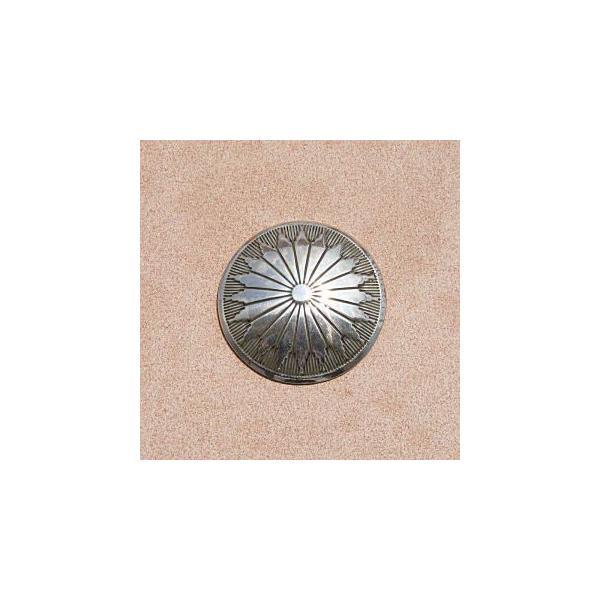 コンチョ ボタン シルバー925 純銀  スターリングシルバー 1158  32mm 厚み0.8ミリ ネジ式  レザー財布に取付 革製品のカスタム リペアパーツに