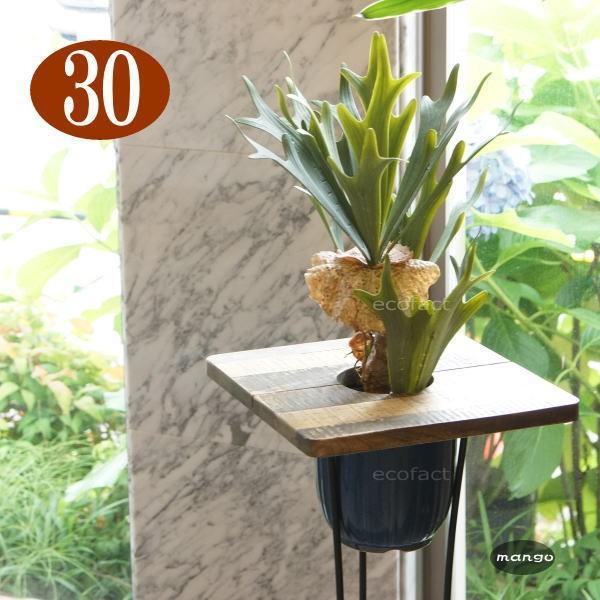 プランターテーブルプランツテーブル φ30cm スクエア 天板のみ マンゴー 無垢材 Hang Out 木製 おしゃれ 天然木 カフェテーブル・ティーテーブル