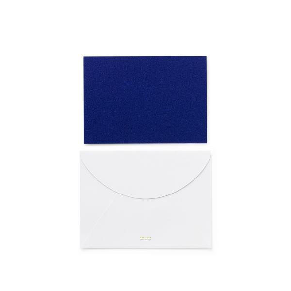 ノーマン・コペンハーゲン デイリーフィクション グリーティングカード ブルー グリッター normann COPENHAGEN DAILY FICTION GREETING CARD blue glitter / お