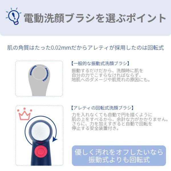 Areti Amazon1位 電動 洗顔 ブラシ 毛穴ケア 洗顔用ソフトブラシ2個入り  W04IDG あすつく|areti|04