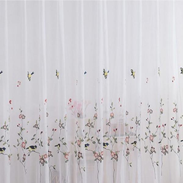 レースカーテン カーテン 2枚組 1枚 おしゃれ 刺繍 北欧 安い ナチュラル 和風 幅60〜100cm丈60〜100cm ariel1 03