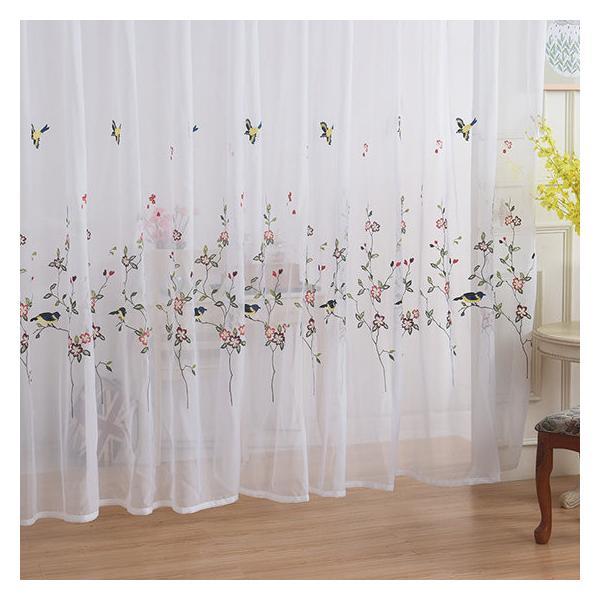 レースカーテン カーテン 2枚組 1枚 おしゃれ 刺繍 北欧 安い ナチュラル 和風 幅60〜100cm丈60〜100cm ariel1 04