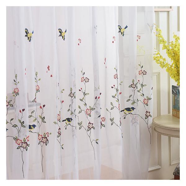 レースカーテン カーテン 2枚組 1枚 おしゃれ 刺繍 北欧 安い ナチュラル 和風 幅60〜100cm丈60〜100cm ariel1 05