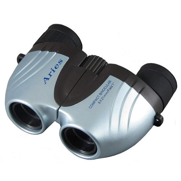 MIZAR-TEC 双眼鏡 ポロプリズム式 8倍21ミリ口径 アリエス コンパクトタイプ ポーチ付き ライトブルー CB-202BL