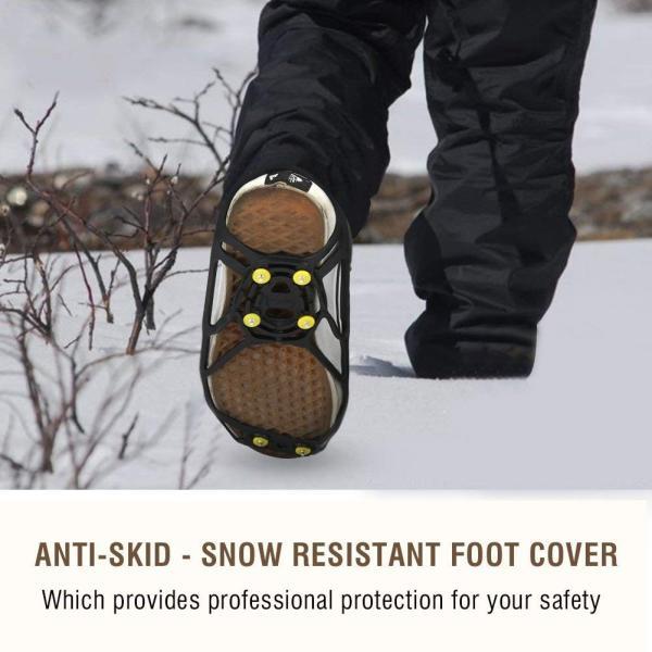 滑り止めスパイク 滑り防止スパイク 携帯スパイク 簡単着脱 軽量 2個セット 雪道 凍結 ジュニア キッズ ヒール スニーカー 男女兼用 (