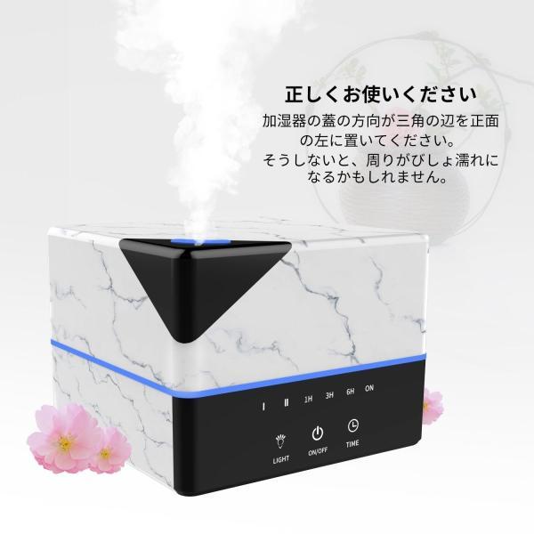 Tenswall 加湿器 卓上 アロマディフューザー 超音波式 空気清浄機 アロマライト 持続加湿 7色LEDライト変換 焚き防止機能付き