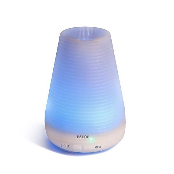 ESEOE 超音波式加湿器 アロマディフューザー 七色ムードランプ 空焚き防止 (ビッグ)
