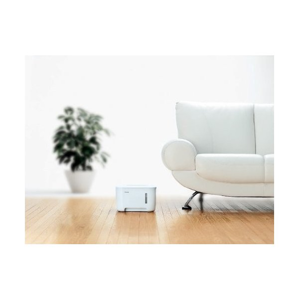 TWINBIRD 湿度センサー付ハイブリッド加湿器 ホワイト SK-D978W
