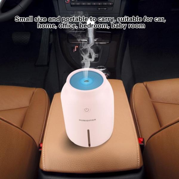 卓上加湿器 ミニusb加湿器 超音波加湿 空気清浄 空焚き防止 静電気防止 冷房/暖房乾燥に対策 (ピンク)