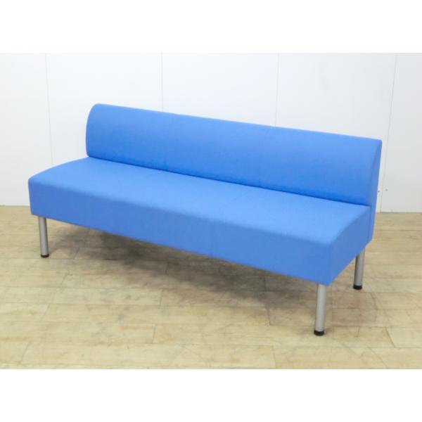 3人用チェア コクヨ ブルー 幅:1500 奥行:550 高さ:670 カラー:ブルー|arigato-ya