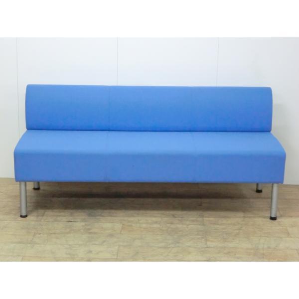 3人用チェア コクヨ ブルー 幅:1500 奥行:550 高さ:670 カラー:ブルー|arigato-ya|02