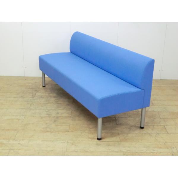 3人用チェア コクヨ ブルー 幅:1500 奥行:550 高さ:670 カラー:ブルー|arigato-ya|03