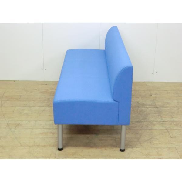 3人用チェア コクヨ ブルー 幅:1500 奥行:550 高さ:670 カラー:ブルー|arigato-ya|04