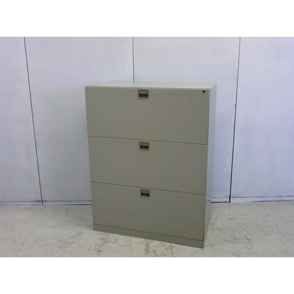 ラテラル3段 ナイキ ニューグレー  サイズ:幅900×奥行480×高さ1170mm 色:ニューグレー arigato-ya