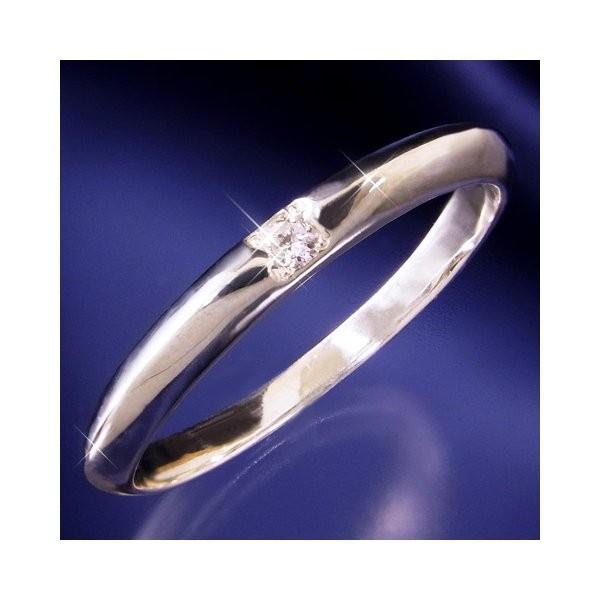ダイヤモンド   甲丸ダイヤリング 指輪 6号 arinkurin2 02