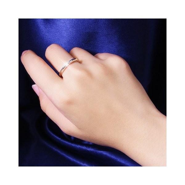 ダイヤモンド   甲丸ダイヤリング 指輪 6号 arinkurin2 04