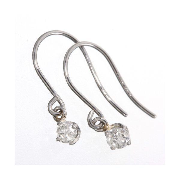 ダイヤモンド | PT900/0.1ctダイヤモンドピアス フックピアス プラチナ