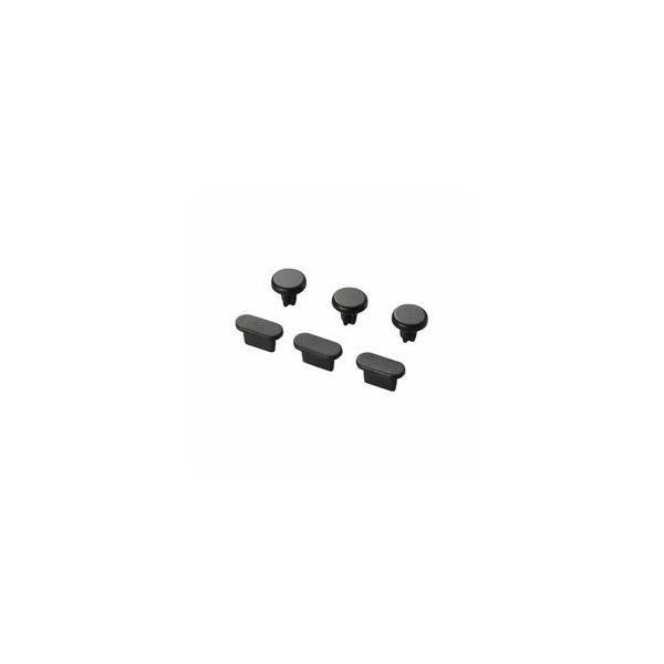 (まとめ)エレコム イヤホン&Lightningコネクタキャップセット PACAST2BK(×10)
