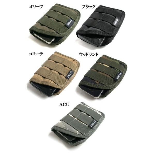 ファッション   モール対応防水布使用 スマートフォンケース ウッドランド