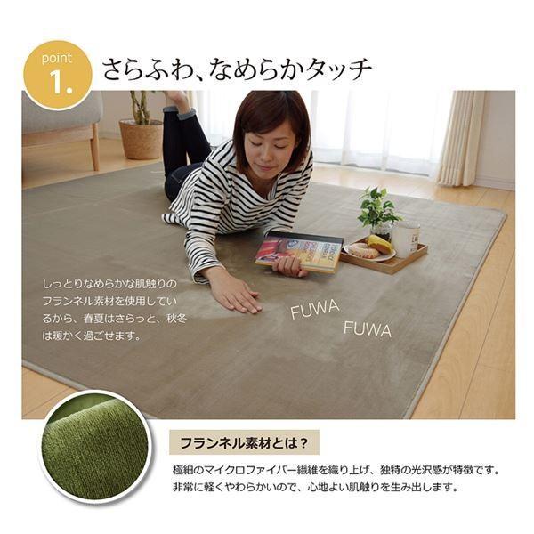 ラグマット カーペット 4畳 洗える 抗菌 防臭 無地 『ピオニー』 ブルー 約200×300cm (ホットカーペット対応)|arinkurin2|03