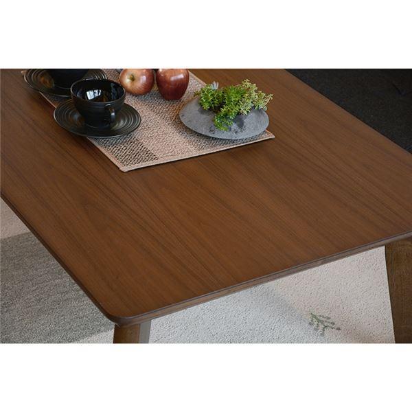 こたつ | リビングこたつテーブル 本体 (正方形幅80cm) ブラウン 『LINO』 木製 薄型ヒーター 継ぎ足付き