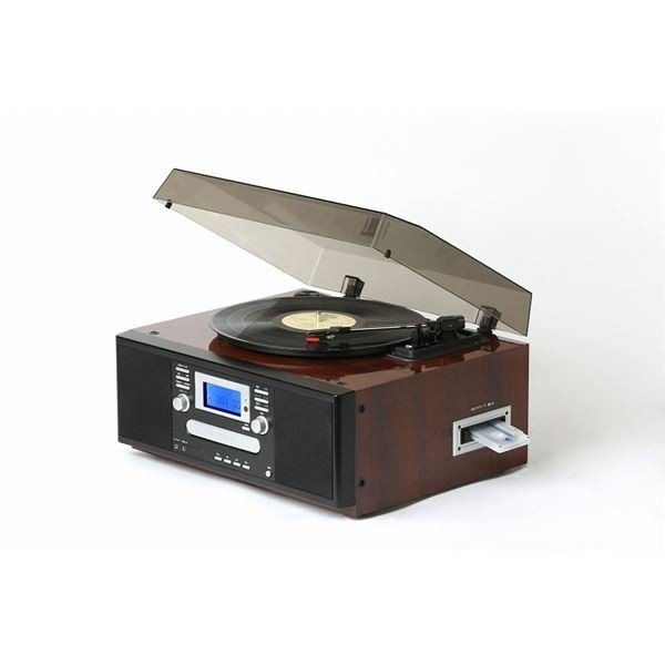 ダブルCDマルチプレーヤー/レコードプレーヤー 〔ピアノブラウン〕 スピーカー内蔵 とうしょう TS-7885PBR|arinkurin2