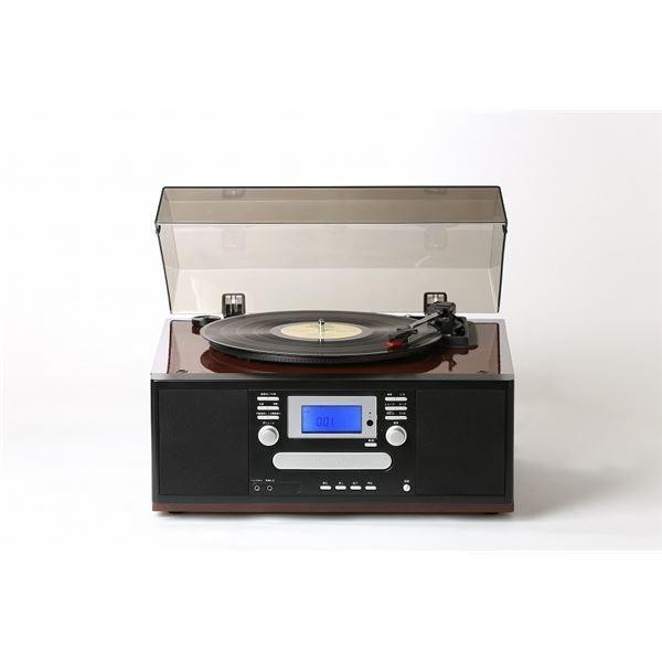 ダブルCDマルチプレーヤー/レコードプレーヤー 〔ピアノブラック〕 スピーカー内蔵 とうしょう TS-7885PBL|arinkurin2|02