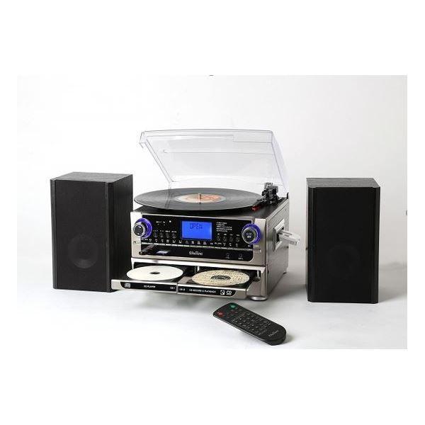 多機能プレーヤー(CDプレーヤー/レコードプレーヤー) デジタル録音 パソコン不要 とうしょう TCDR-286WC|arinkurin2