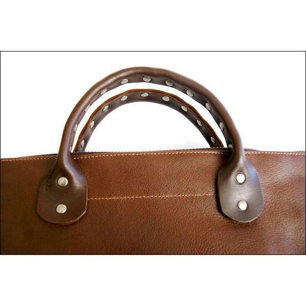 バッグ   dean(ディーン) Studded Handle Railway Bag トートバッグ 茶