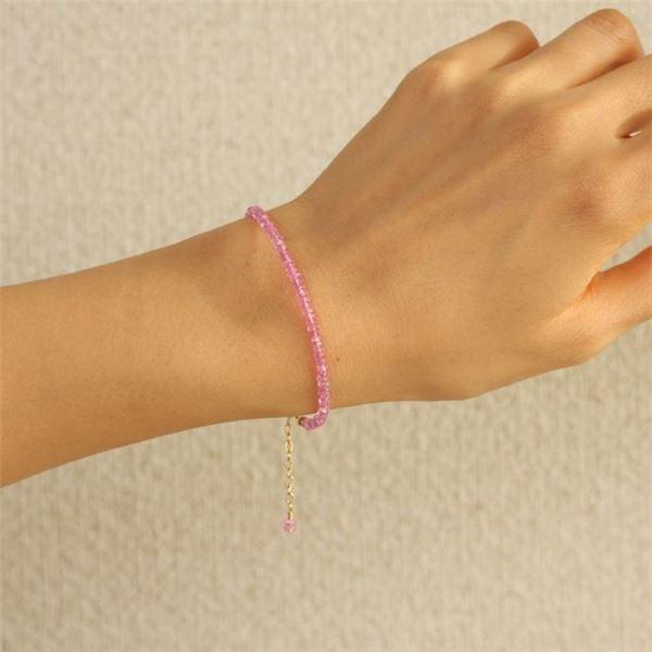 ファッション   ピンクサファイア 14KGFブレスレット