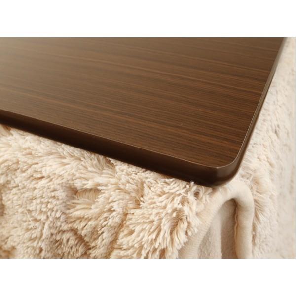 こたつ | (天板単品)リバーシブルコタツ天板 正方形 90×90cm ナチュラルブラウン 完成品|arinkurin2|02