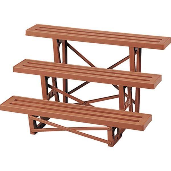 ガーデニング   多用途 フラワースタンド花台 (3段 ブラウン) 約560×900×545mm 日本製 箱入り (ガーデニング用品 園芸用品) arinkurin2