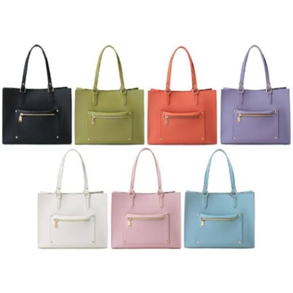 バッグ | 人気のデザインを改良した柔らか素材のマチ広トートバッグLブルー